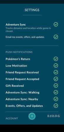 Pokemon Go Adventure Sync Update