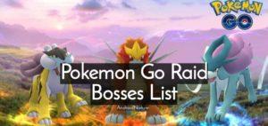 Pokemon go raid bosses list
