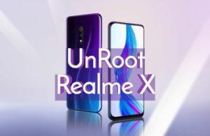 Unroot Realme X