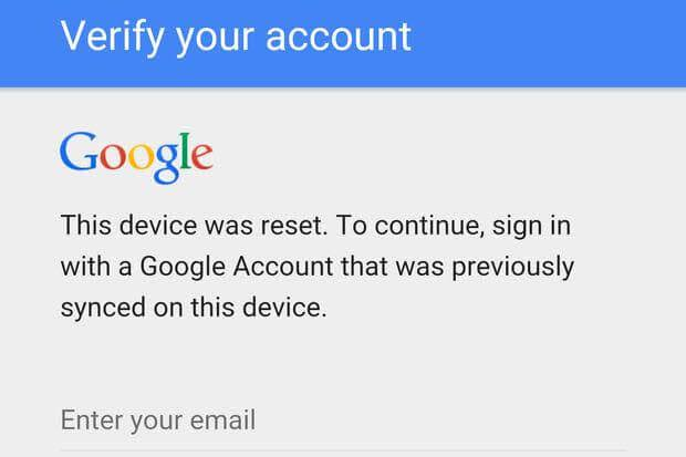 Google account verification