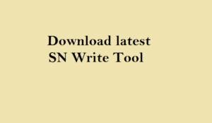 Download SN Write Tool