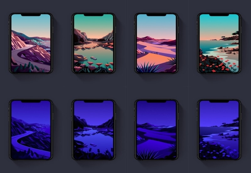 Ios 14.2 stock wallpapers