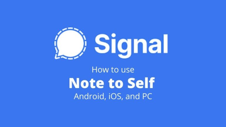 Note to Self in Signal