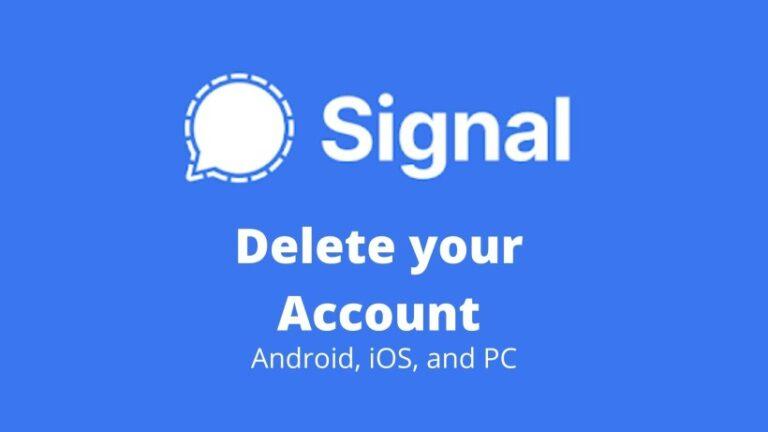 delete Signal account