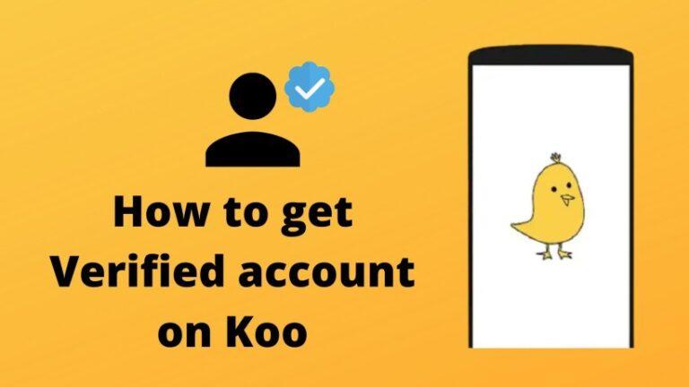 How to get Verified account on Koo
