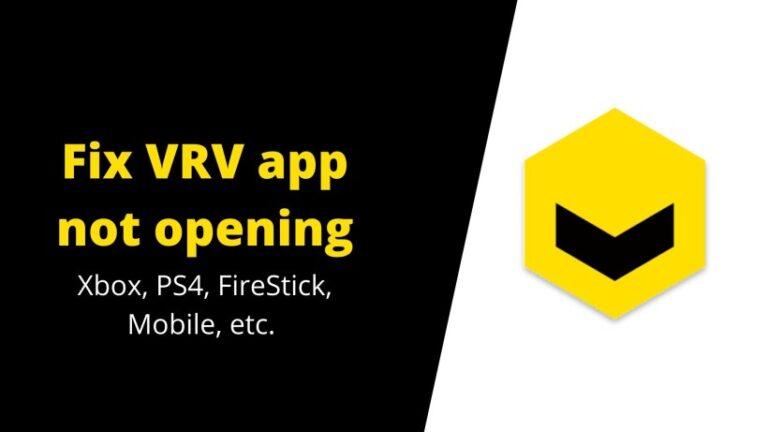 Fix VRV app not opening