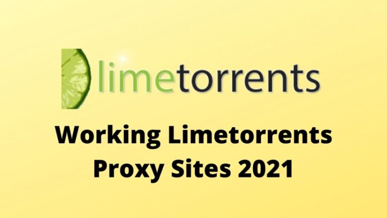 Working Limetorrents Proxy Sites 2021