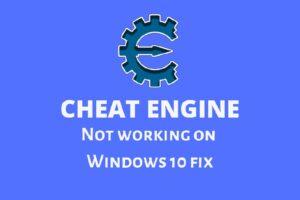 Cheat Engine not working