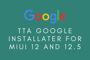 TTA Google Installer MIUI 12