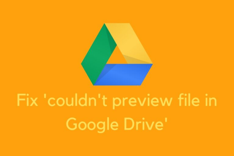Fix couldn't preview file Google Drive