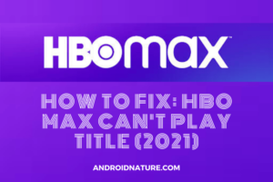 HBO Max can't play title
