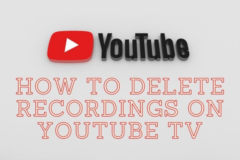 How to delete Recordings on YouTube TV