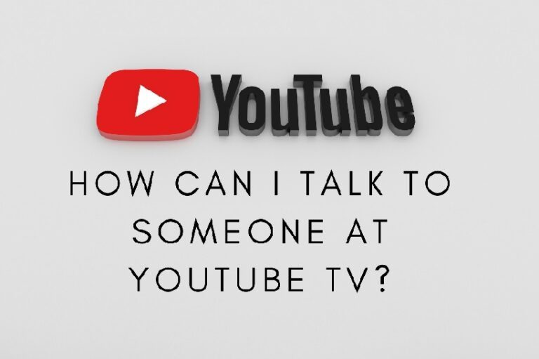 Talk to someone at YouTube TV