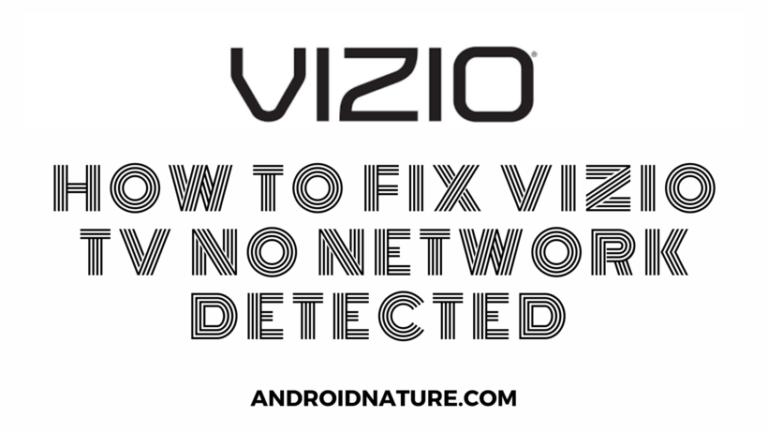 Vizio TV no Network detected