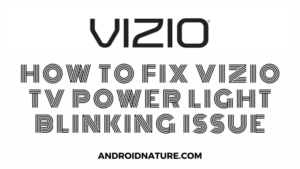 Vizio TV power light blinking