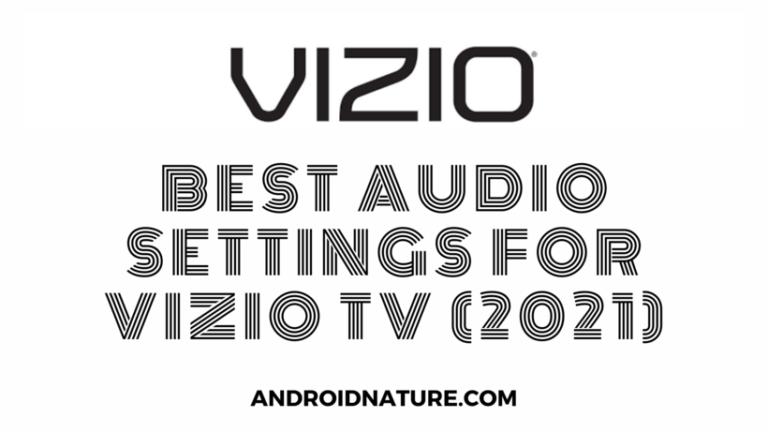 best audio settings for Vizio TV