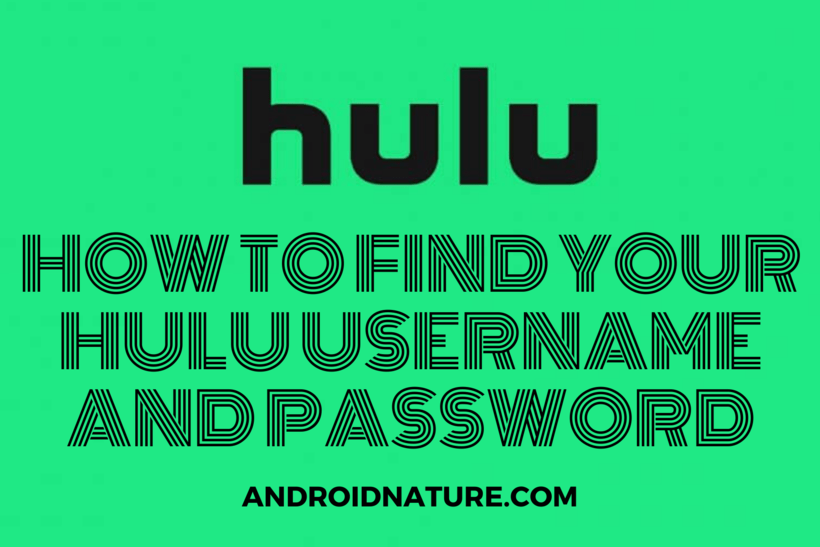 find Hulu your username and password
