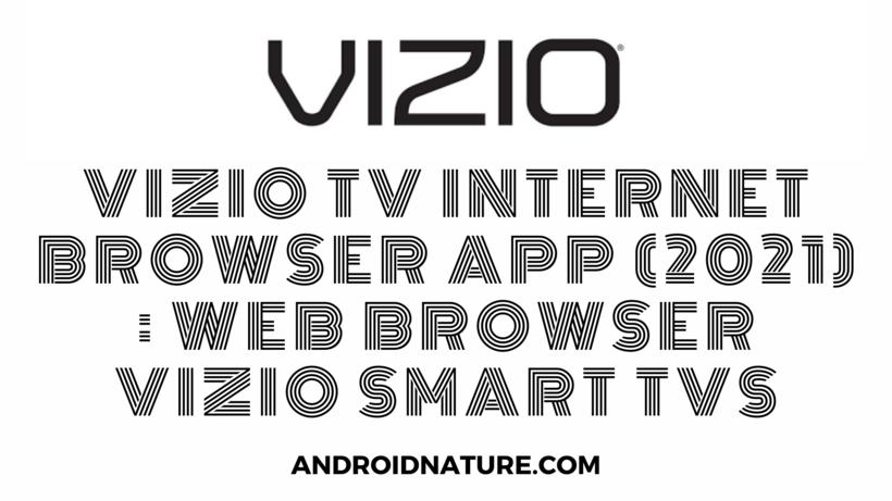 vizio tv internet browser app