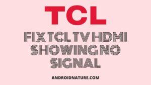 fix tcl TV no signal