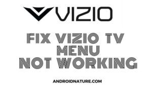 Vizio TV menu not working