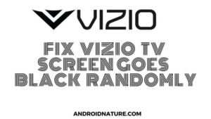 Vizio tv black screen