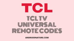 TCL TV universal remote codes