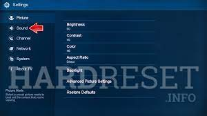 Picture settings on Hisense TV