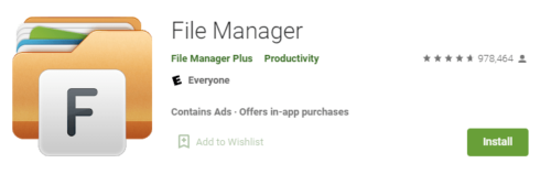 File manager app installed on Hisense TV