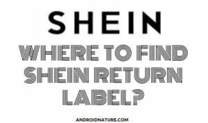 SHEIN return label